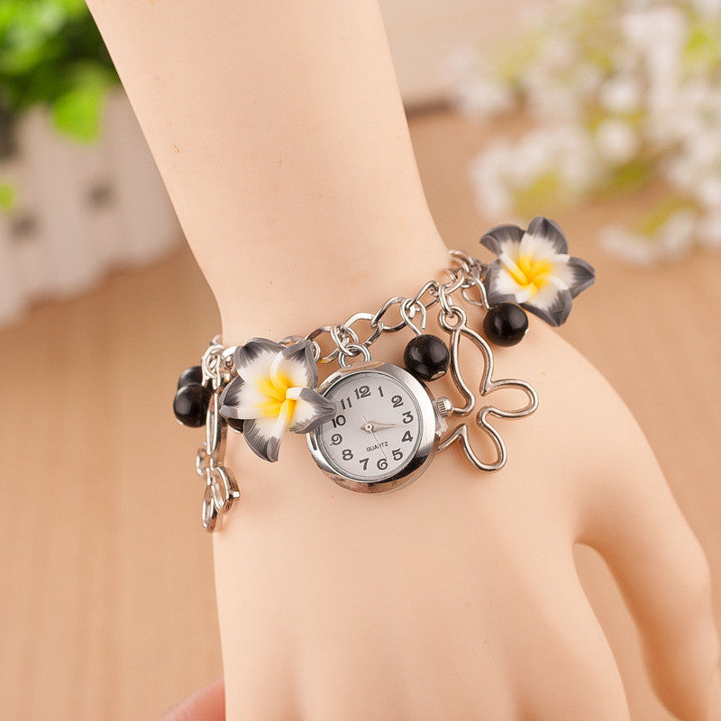 Flower Pearl Butterfly Watch - Oh Yours Fashion - 7