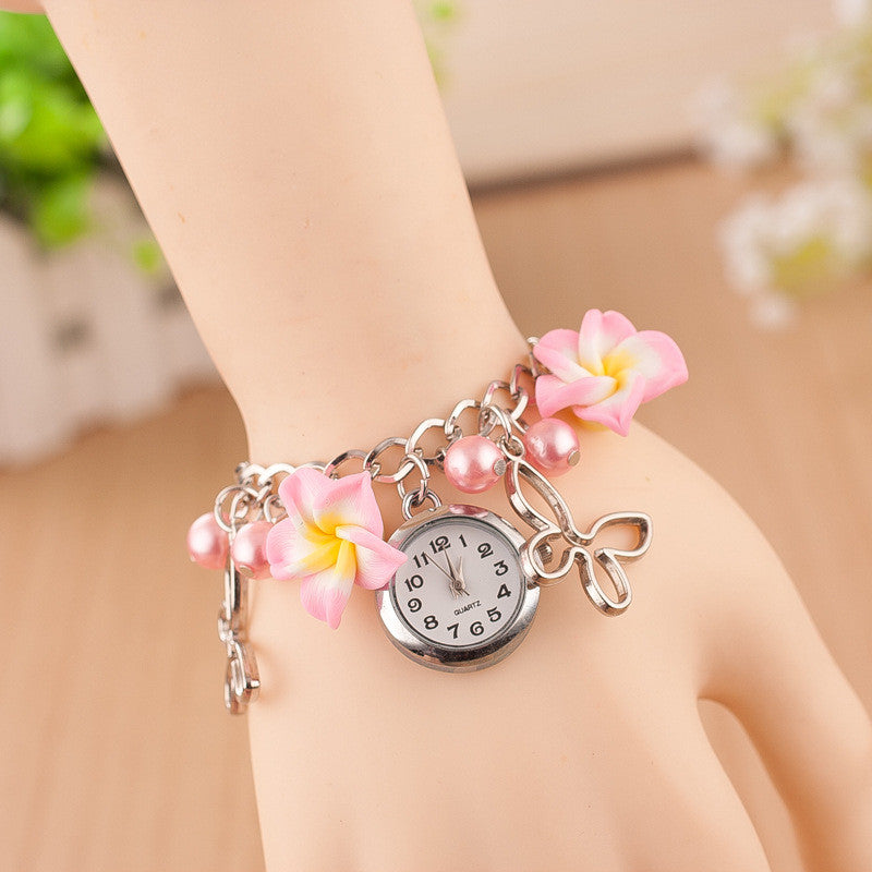 Flower Pearl Butterfly Watch - Oh Yours Fashion - 9