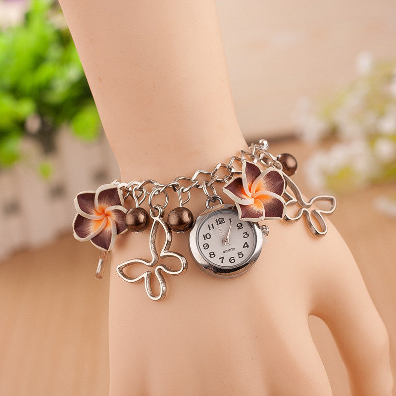 Flower Pearl Butterfly Watch - Oh Yours Fashion - 8