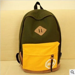 Fashion Korea Style Contrast Color School Backpack Travel Bag - Oh Yours Fashion - 3