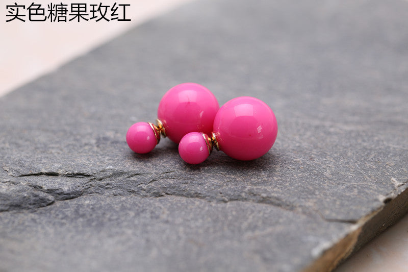 Candy Color Big Little Pearl Earring - Oh Yours Fashion - 6