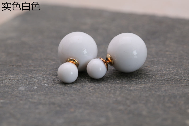 Candy Color Big Little Pearl Earring - Oh Yours Fashion - 14