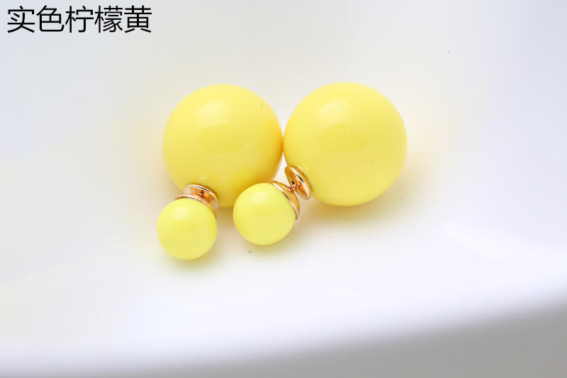 Candy Color Big Little Pearl Earring - Oh Yours Fashion - 12