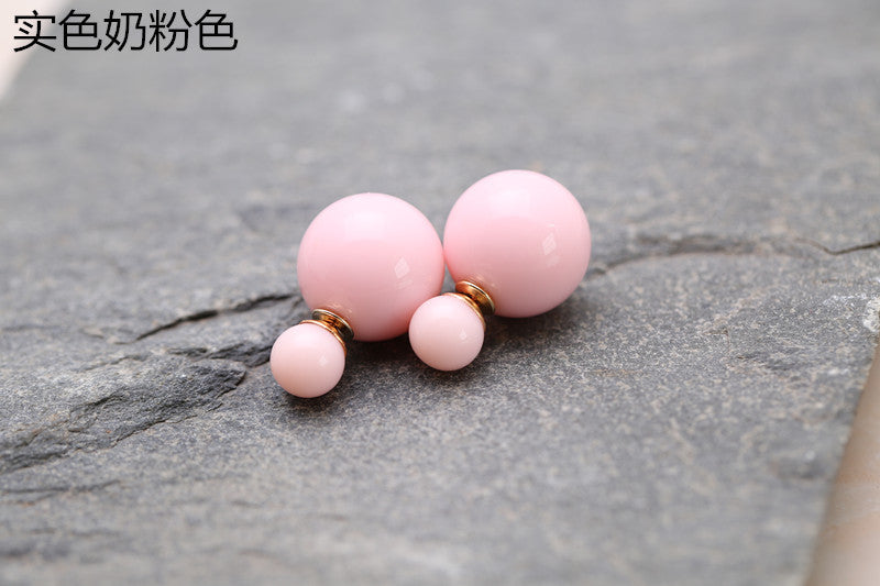 Candy Color Big Little Pearl Earring - Oh Yours Fashion - 22