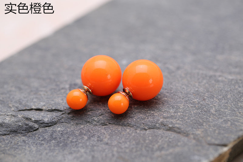 Candy Color Big Little Pearl Earring - Oh Yours Fashion - 26