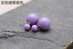 Candy Color Big Little Pearl Earring - Oh Yours Fashion - 4