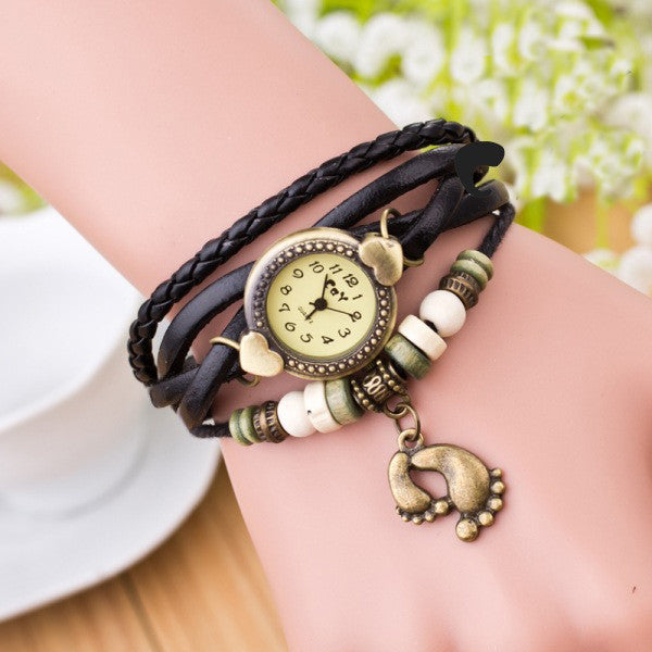 Punk Style Foot Decorate Multilayer Watch - Oh Yours Fashion - 2