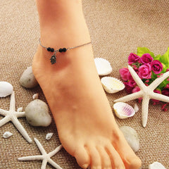 Bead Hand Tassel Anklet - Oh Yours Fashion - 4