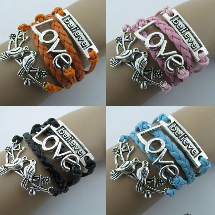 Beautiful Love Birds Multilayer Couple Bracelet - Oh Yours Fashion