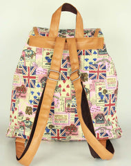 Ethnic Print Belt Buckled Cool Backpack Travel Bag - Oh Yours Fashion - 4