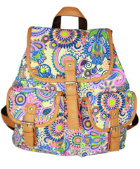 Ethnic Print Belt Buckled Cool Backpack Travel Bag - Oh Yours Fashion - 2