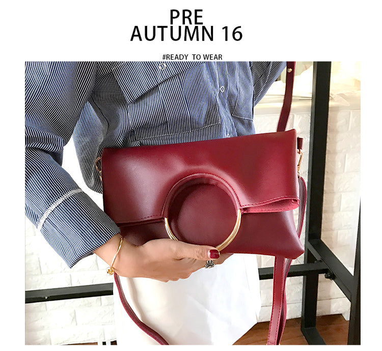 Occident Style Glossy Women Satchel Daughter package