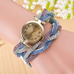 Beautiful Crystal Woven Bracelet Watch - Oh Yours Fashion - 2