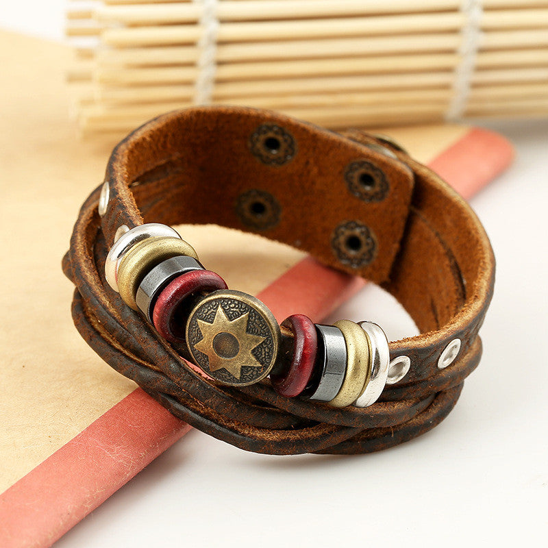 Korea Style Beads Multilayer Woven Bracelet - Oh Yours Fashion - 3