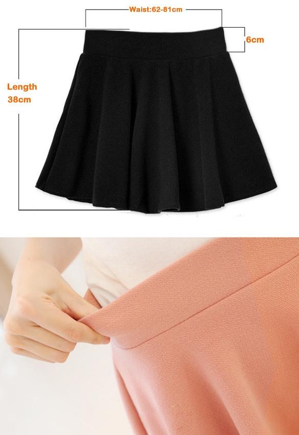 Candy Color Stretch Skater Flared Pleated Mini Skirt - MeetYoursFashion - 12