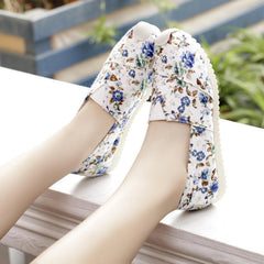 Casual Slip On Print Canvas Sneakers - Oh Yours Fashion - 3
