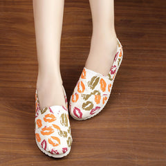 Casual Slip On Print Canvas Sneakers - Oh Yours Fashion - 4