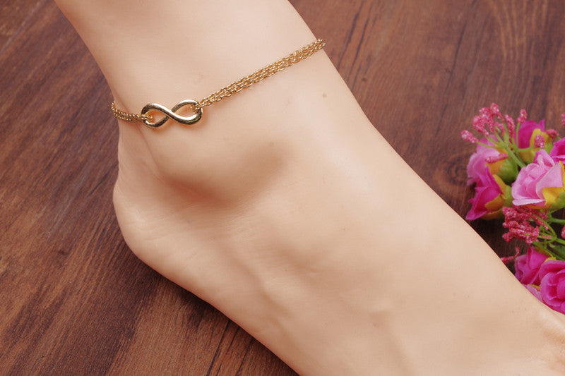 Simple 8 Love Anklet - Oh Yours Fashion - 2