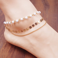 Bohemia Beads Sequins Anklet - Oh Yours Fashion - 1