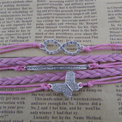 Crystal Butterfly Hand Woven Bracelet - Oh Yours Fashion - 2