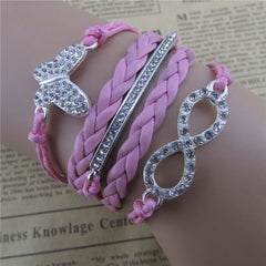 Crystal Butterfly Hand Woven Bracelet - Oh Yours Fashion - 1