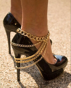 Beautiful Long Multilayer Tassel Anklet - Oh Yours Fashion - 1