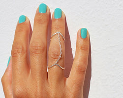 Sexy Multi-Finger Double V Shape Ring - Oh Yours Fashion - 1