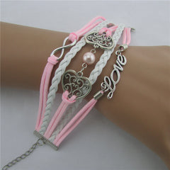 Exquisite Hollow Out Heart Pearl Bracelet - Oh Yours Fashion - 4