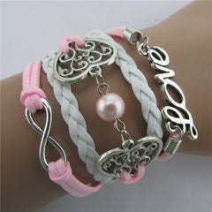 Exquisite Hollow Out Heart Pearl Bracelet - Oh Yours Fashion - 2