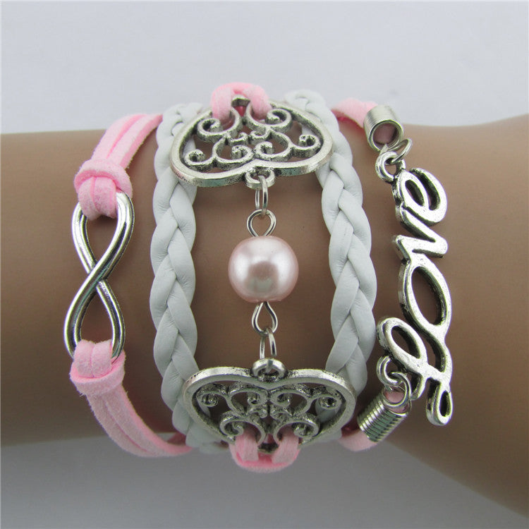 Exquisite Hollow Out Heart Pearl Bracelet - Oh Yours Fashion - 1