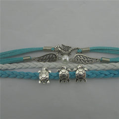 Tortoise Angel Wings Pearl Hippocampus Bracelet - Oh Yours Fashion - 3