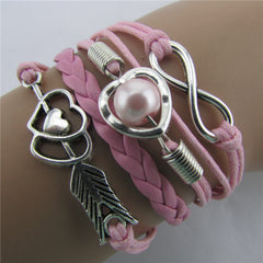 Arrow Through Heart Woven Multilayer Bracelet - Oh Yours Fashion - 2