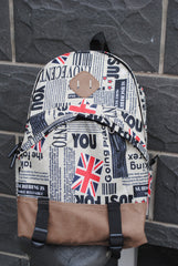 Scrawl Print Unique Backpack Cool Travel School Bag - Oh Yours Fashion - 5