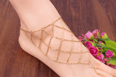 Exaggerate Hyperbole Mesh Anklet - Oh Yours Fashion - 2
