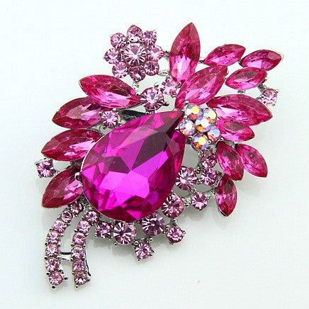 High-end Multi-color Diamond Brooch - Oh Yours Fashion - 1