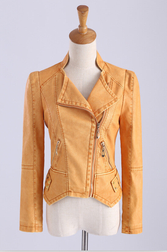 Zipper Pockets Lapel Crop Slim Jacket - Oh Yours Fashion - 6
