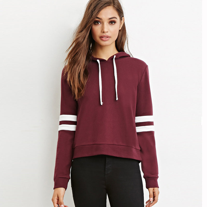 Scoop Hooded Pullover Solid Color Loose Hoodie - Oh Yours Fashion - 1