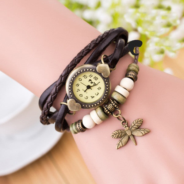 Dragonfly Decorate Multilayer Watch - Oh Yours Fashion - 2
