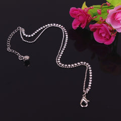Crystal Double Layers Anklet - Oh Yours Fashion - 3
