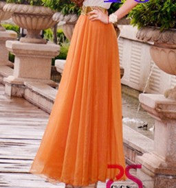 Bohemian Flared Pleated Pure Color Slim Floor Maxi Skirt - Oh Yours Fashion - 7