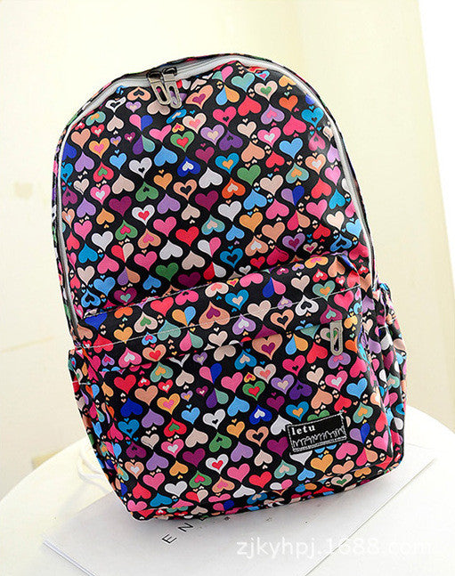 Graffiti Style Fashion Canvas School Backpack Bag - Oh Yours Fashion - 6