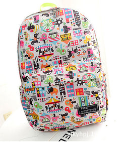 Graffiti Style Fashion Canvas School Backpack Bag - Oh Yours Fashion - 1