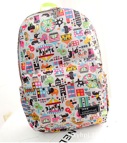 Graffiti Style Fashion Canvas School Backpack Bag