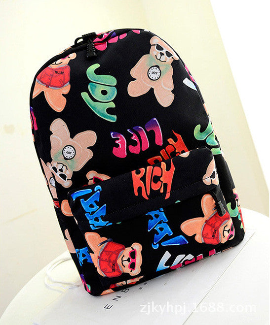 Graffiti Style Fashion Canvas School Backpack Bag - Oh Yours Fashion - 9