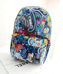 Graffiti Style Fashion Canvas School Backpack Bag - Oh Yours Fashion - 2