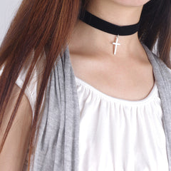 Black Lint Flannelette Style Pendant Necklace - Oh Yours Fashion - 5