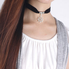Black Lint Flannelette Style Pendant Necklace - Oh Yours Fashion - 10