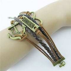 Retro BESTFRIEND Multilayer Woven Bracelet - Oh Yours Fashion - 3