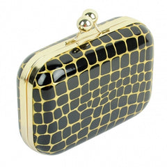 Women 6 Colors Stone Grain Chain Clutch Bag Handbag Messenger Bag Clutch CaF8 - Oh Yours Fashion - 3