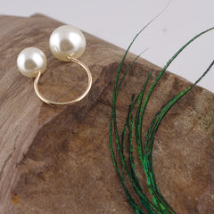 Adjustable Big Small Pearl Ring - Oh Yours Fashion - 4